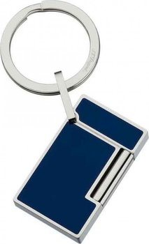 Key Ring Line 2 - Lighter Stainless Steel And Blue Lacquer