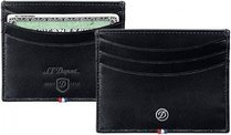 Line D Credit Card Holder - Black Elysée